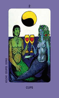 Two of Hearts Tarot Card - Jolanda Tarot Deck