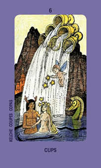 Six of Ghosts Tarot Card - Jolanda Tarot Deck