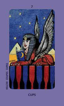 Seven of Cauldrons Tarot Card - Jolanda Tarot Deck