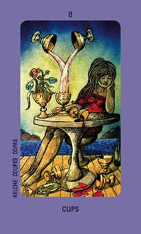 Eight of Ghosts Tarot Card - Jolanda Tarot Deck