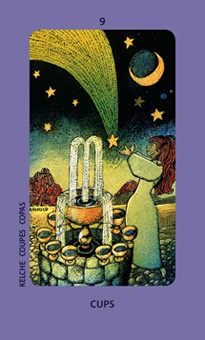Nine of Bowls Tarot Card - Jolanda Tarot Deck
