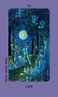 Ten of Cauldrons Tarot Card - Jolanda Tarot Deck