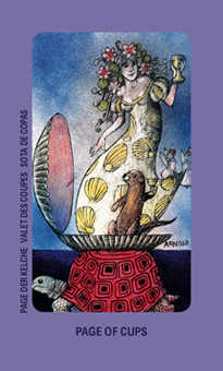 Daughter of Cups Tarot Card - Jolanda Tarot Deck