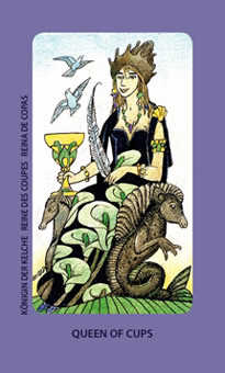 Queen of Bowls Tarot Card - Jolanda Tarot Deck