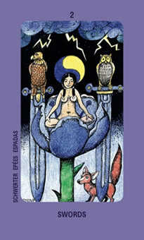 Two of Wind Tarot Card - Jolanda Tarot Deck