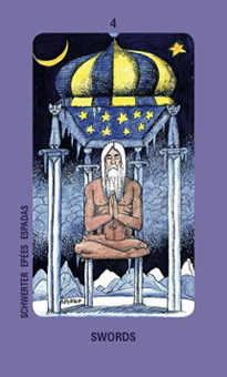 Four of Arrows Tarot Card - Jolanda Tarot Deck