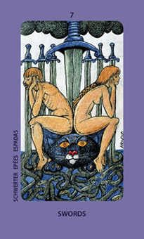 Seven of Arrows Tarot Card - Jolanda Tarot Deck