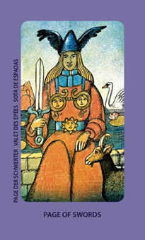 Valet of Swords Tarot Card - Jolanda Tarot Deck