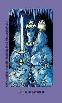 Priestess of Swords Tarot Card - Jolanda Tarot Deck