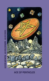 Ace of Rings Tarot Card - Jolanda Tarot Deck