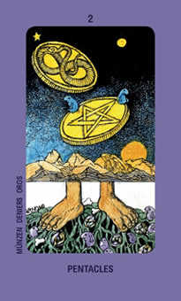 Two of Rings Tarot Card - Jolanda Tarot Deck