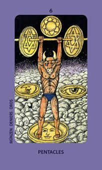 Six of Stones Tarot Card - Jolanda Tarot Deck