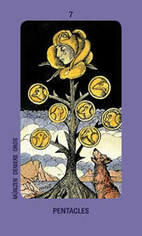 Seven of Buffalo Tarot Card - Jolanda Tarot Deck