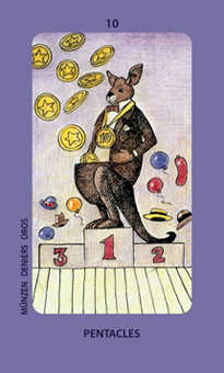 Ten of Stones Tarot Card - Jolanda Tarot Deck