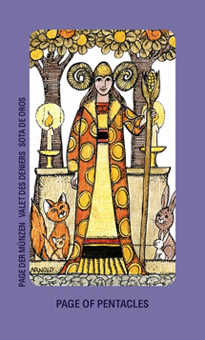 Page of Buffalo Tarot Card - Jolanda Tarot Deck