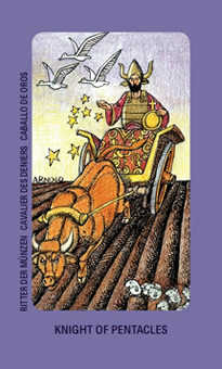 Knight of Discs Tarot Card - Jolanda Tarot Deck