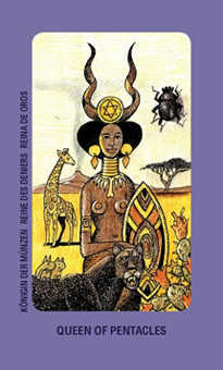 Queen of Buffalo Tarot Card - Jolanda Tarot Deck
