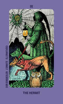 The Anchoret Tarot Card - Jolanda Tarot Deck