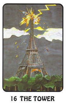 The Falling Tower Tarot Card - Karma Tarot Deck