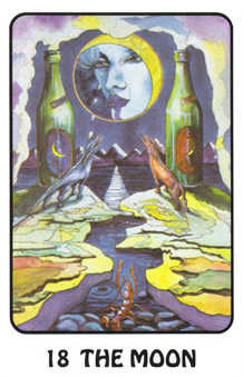 The Moon Tarot Card - Karma Tarot Deck