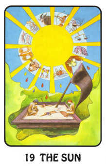 The Sun Tarot Card - Karma Tarot Deck