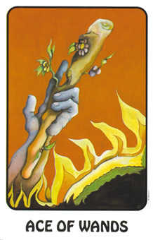 Ace of Wands Tarot Card - Karma Tarot Deck