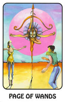 Page of Lightening Tarot Card - Karma Tarot Deck