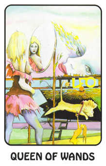 Queen of Batons Tarot Card - Karma Tarot Deck