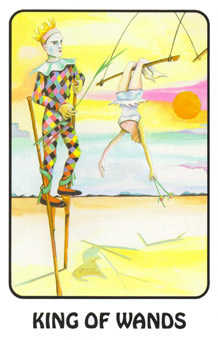King of Batons Tarot Card - Karma Tarot Deck