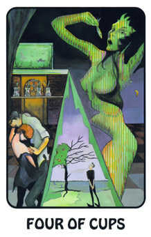Four of Cups Tarot Card - Karma Tarot Deck