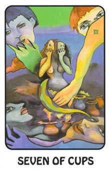 Seven of Cauldrons Tarot Card - Karma Tarot Deck
