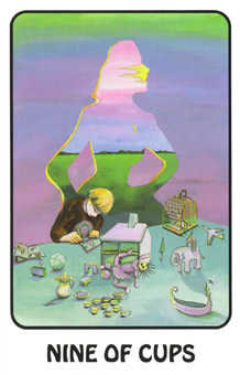 Nine of Bowls Tarot Card - Karma Tarot Deck