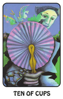 Ten of Hearts Tarot Card - Karma Tarot Deck
