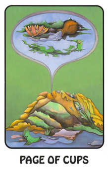 Page of Cups Tarot Card - Karma Tarot Deck