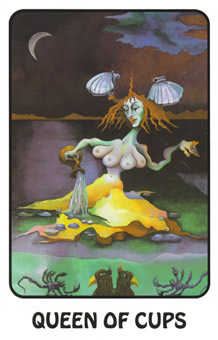 Queen of Cauldrons Tarot Card - Karma Tarot Deck