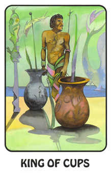 King of Cauldrons Tarot Card - Karma Tarot Deck