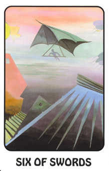 Six of Bats Tarot Card - Karma Tarot Deck