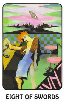 Eight of Spades Tarot Card - Karma Tarot Deck