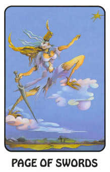 Page of Swords Tarot Card - Karma Tarot Deck