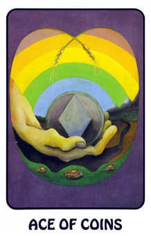 Ace of Discs Tarot Card - Karma Tarot Deck