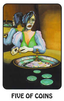 Five of Coins Tarot Card - Karma Tarot Deck