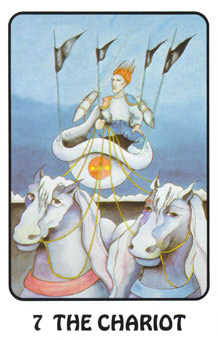The Chariot Tarot Card - Karma Tarot Deck