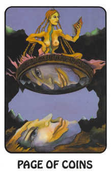 Page of Buffalo Tarot Card - Karma Tarot Deck
