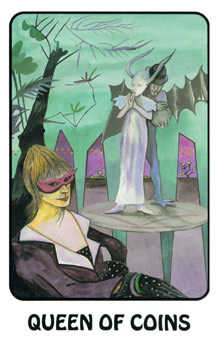 Queen of Coins Tarot Card - Karma Tarot Deck