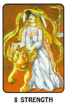Strength Tarot Card - Karma Tarot Deck