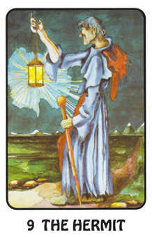 The Hermit Tarot Card - Karma Tarot Deck