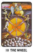 Wheel of Fortune Tarot card in Karma Tarot deck