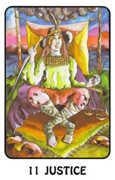 Justice Tarot card in Karma deck