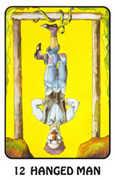 The Hanged Man Tarot card in Karma deck