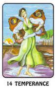 Temperance Tarot card in Karma deck